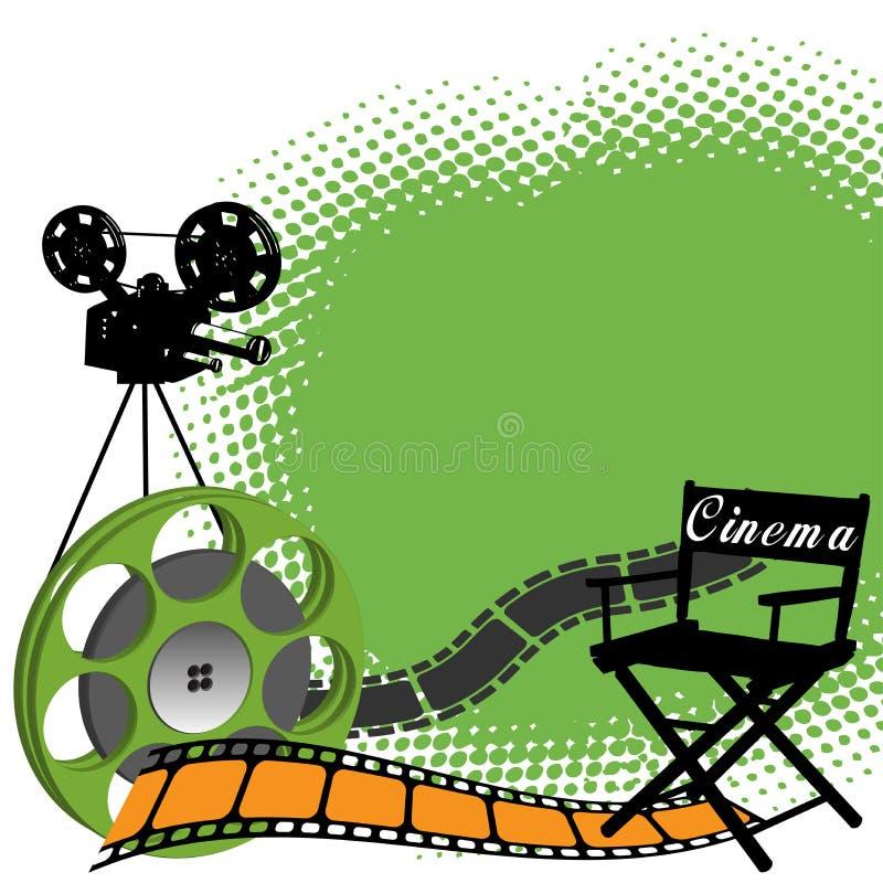 Tema del cinematografo illustrazione vettoriale