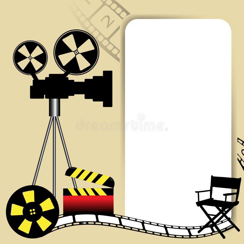 Tema del cinematografo illustrazione di stock
