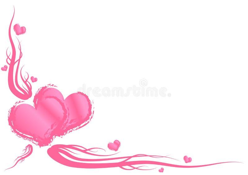Tema del día de tarjetas del día de San Valentín libre illustration