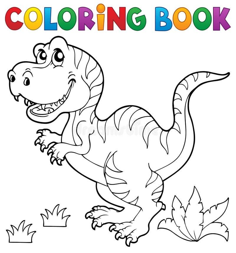 Tema 5 Del Dinosaurio Del Libro De Colorear Ilustración del Vector ...