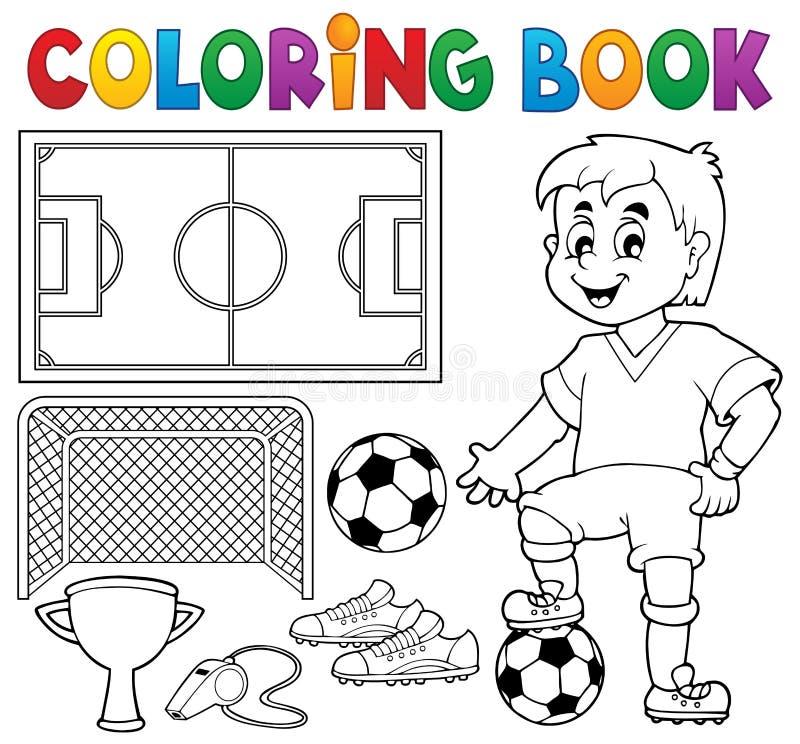 Tema 1 Del Fútbol Del Libro De Colorear Ilustración del Vector ...