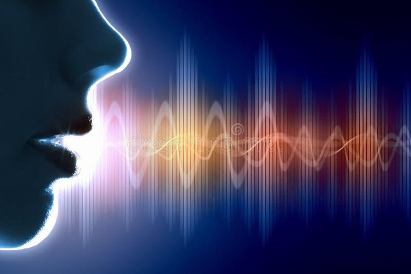Illustrazione dell'onda sonora fotografie stock libere da diritti