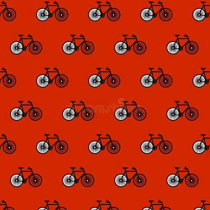Tema del fondo della montagna della bici del modello della bicicletta royalty illustrazione gratis