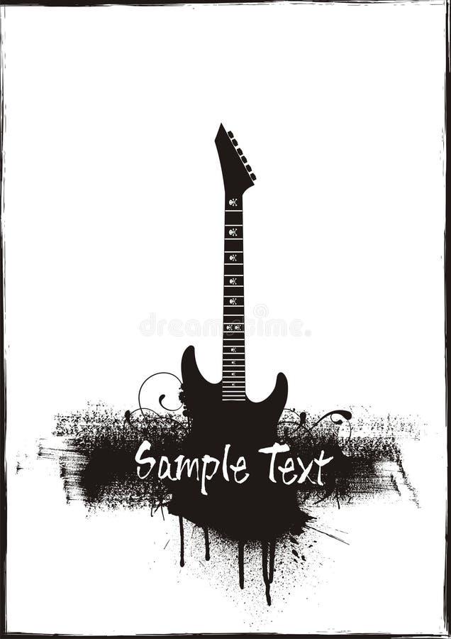 Tema del grunge della chitarra fotografie stock libere da diritti