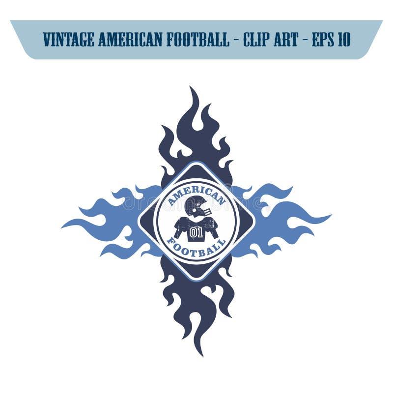 tema del icono del fútbol americano foto de archivo