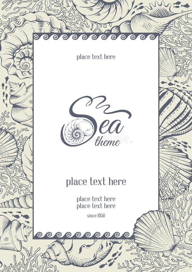 Tema del mare illustrazione vettoriale