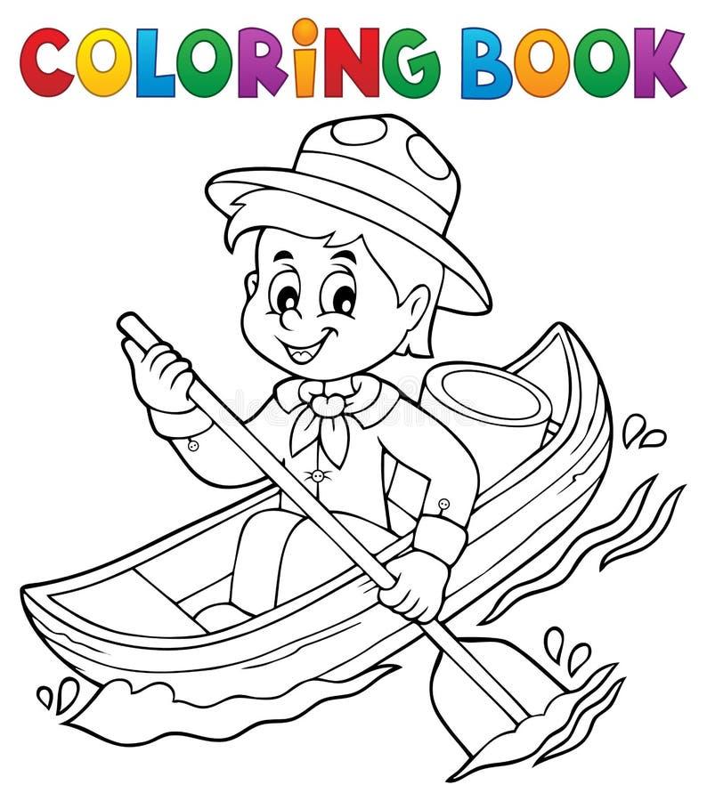 Tema 1 Del Muchacho Del Explorador Del Agua Del Libro De Colorear ...
