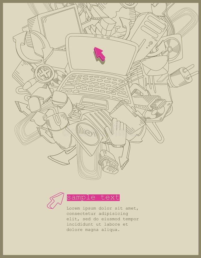 Tema del ordenador - vector