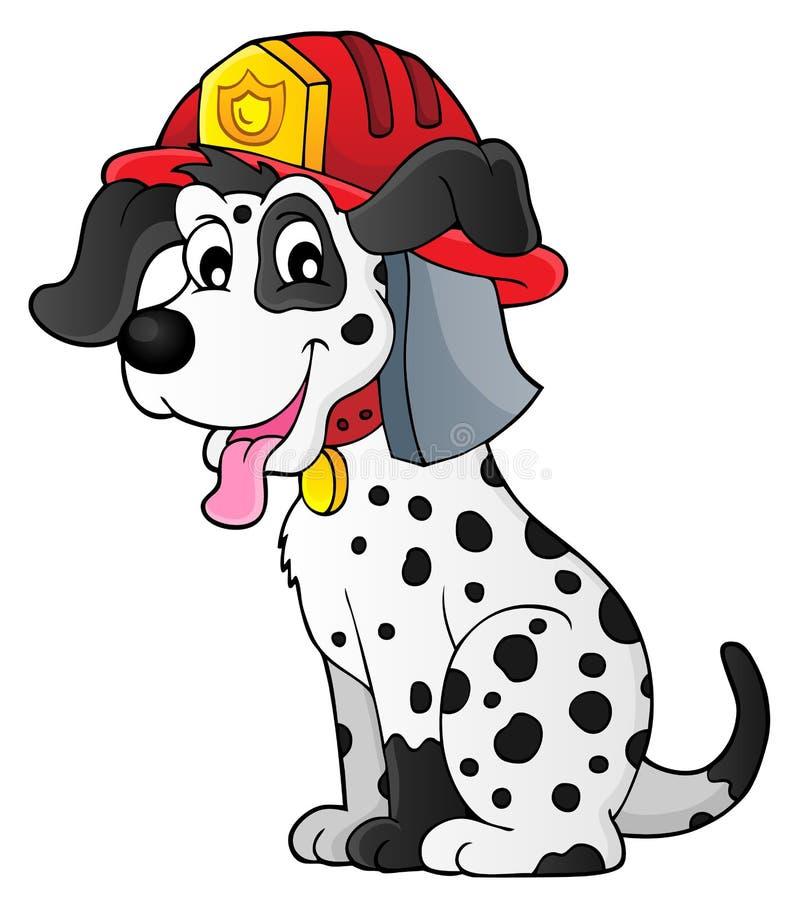 Tema 1 del perro del bombero stock de ilustración
