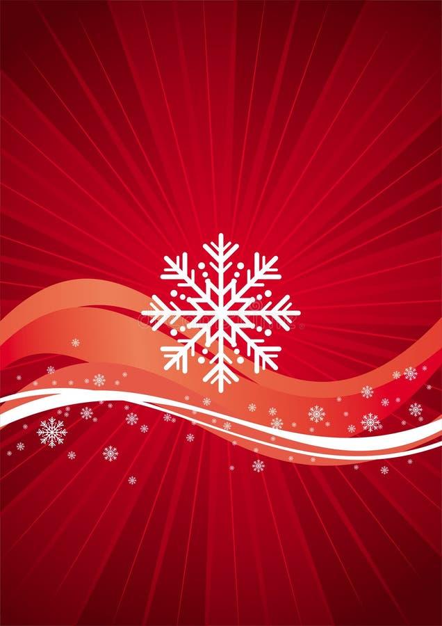 Tema del rojo del invierno ilustración del vector