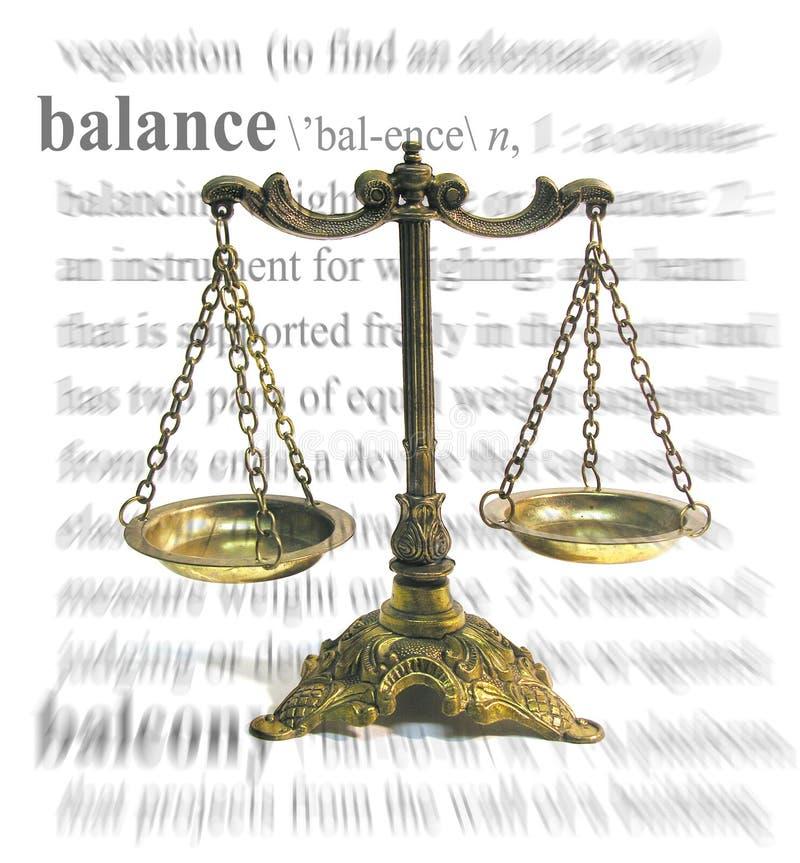 Tema dell'equilibrio immagine stock