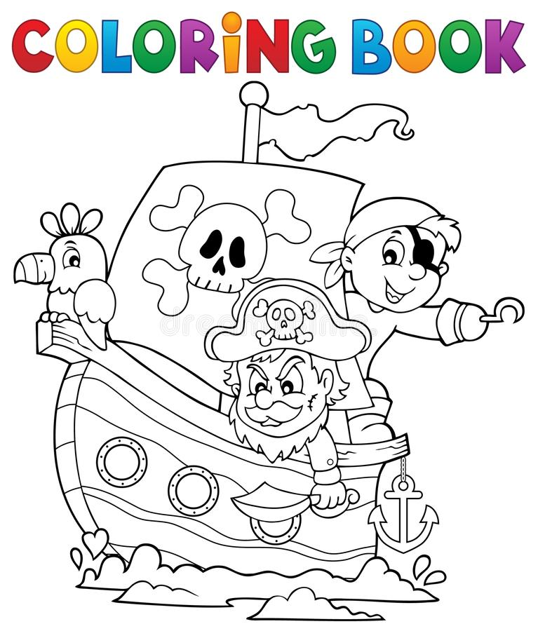 Tema 1 della barca del pirata del libro da colorare - Pirata immagini da colorare i pirati ...