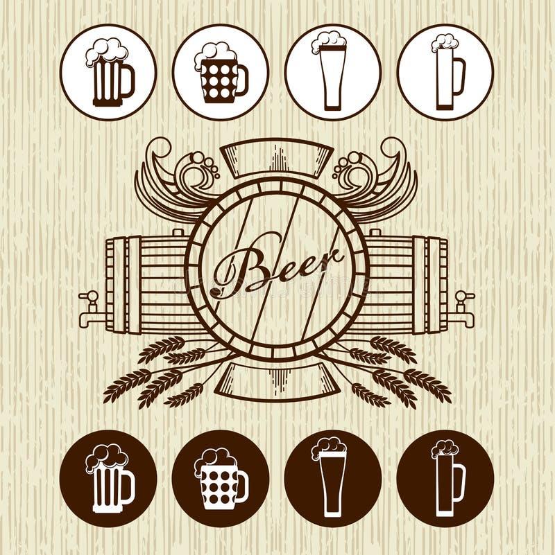 Tema della birra royalty illustrazione gratis