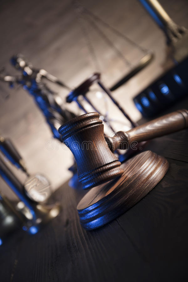 Tema della giustizia e di legge fotografia stock libera da diritti