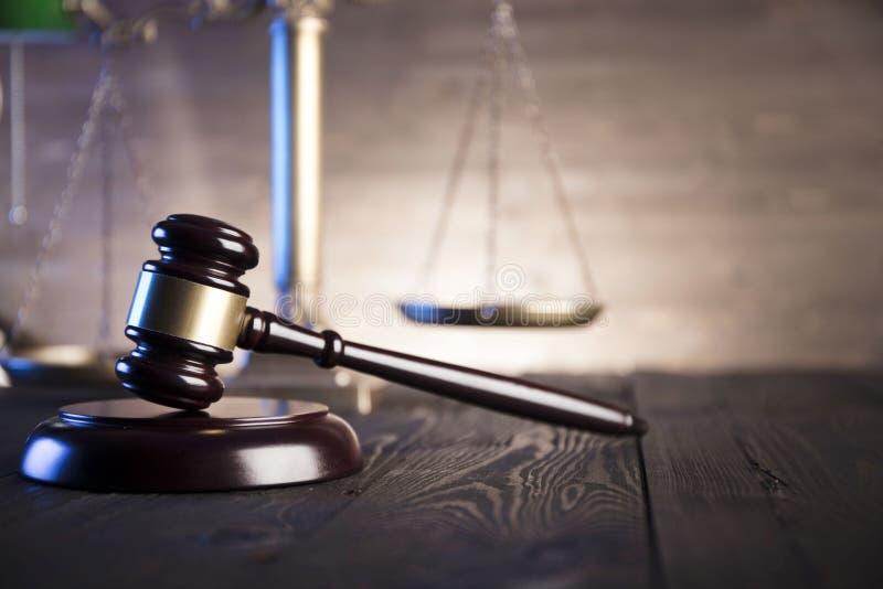 Tema della giustizia e di legge fotografia stock