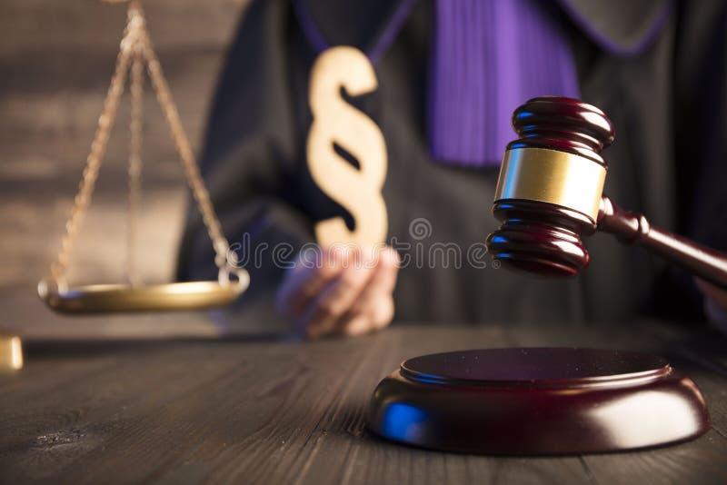 Tema della giustizia e di legge fotografie stock
