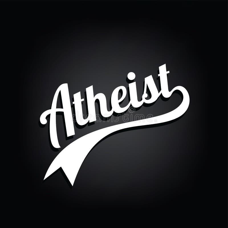 tema di ateismo - contro la campagna religiosa di ignoranza illustrazione di stock