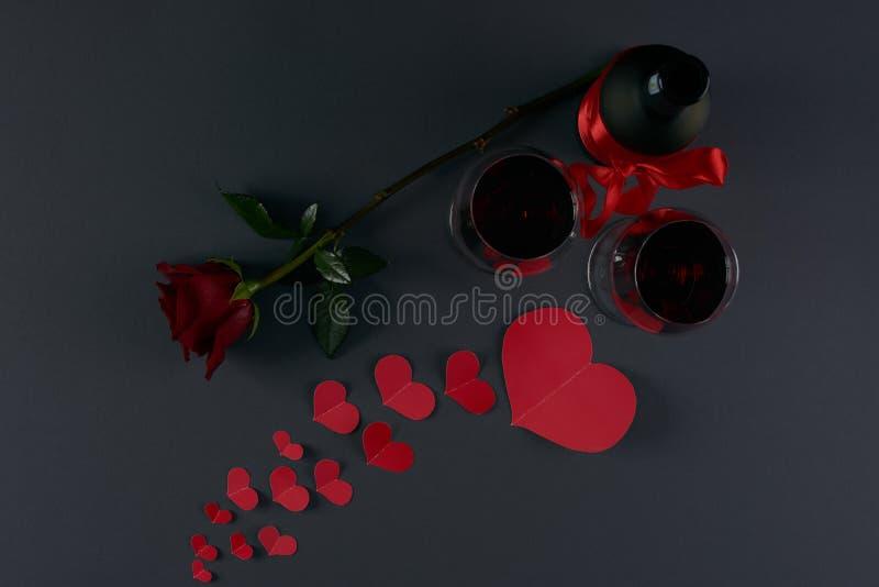 Tema di giorno del ` s del biglietto di S. Valentino fotografia stock libera da diritti