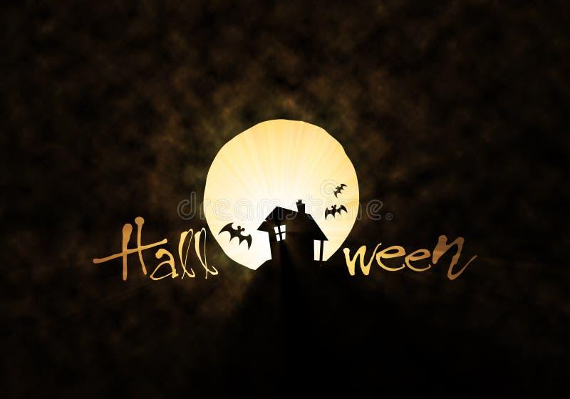 Tema di Halloween della capanna & del blocco royalty illustrazione gratis