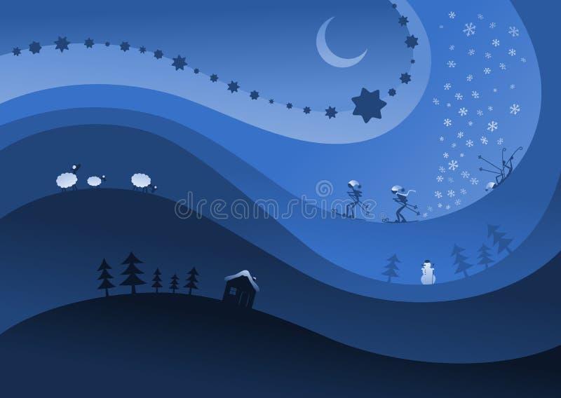 Tema di inverno royalty illustrazione gratis