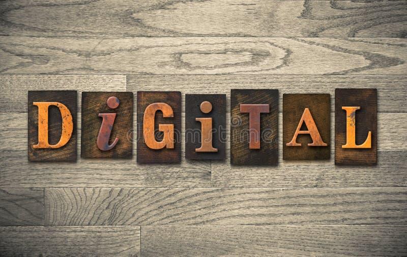 Tema di legno dello scritto tipografico di Digital fotografie stock libere da diritti