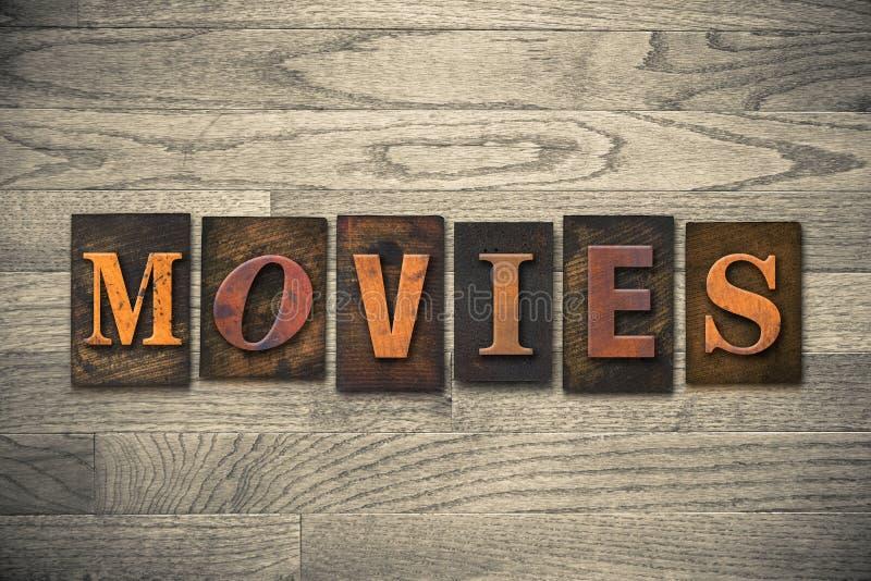 Tema di legno dello scritto tipografico di film fotografie stock