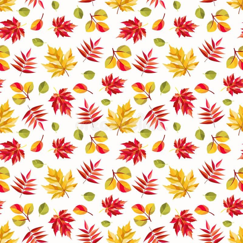 Tema di stagione di caduta del modello di autunno royalty illustrazione gratis