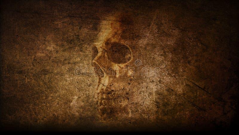 Tema dipinto cranio d'annata astratto artistico illustrazione vettoriale