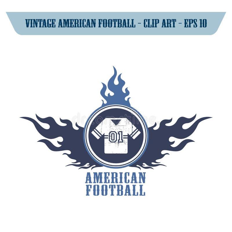 tema do ícone do futebol americano foto de stock