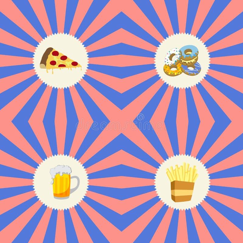 Tema do alimento e da bebida ilustração do vetor