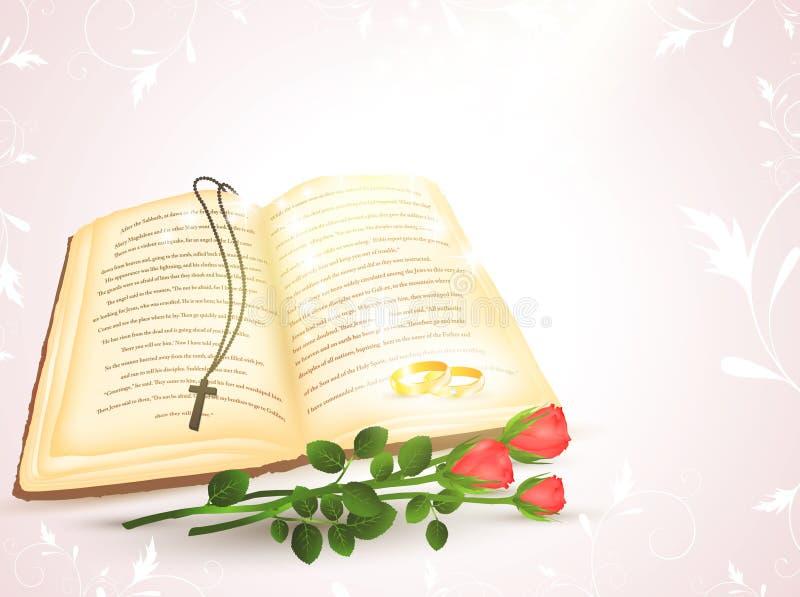Tema do casamento ilustração royalty free