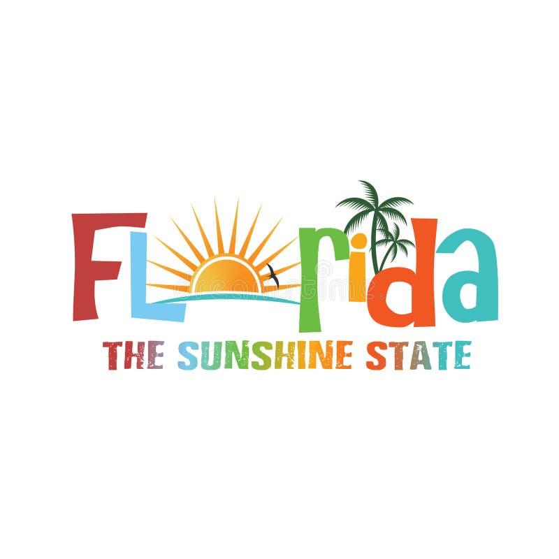 Tema do fraseio de Florida ilustração royalty free