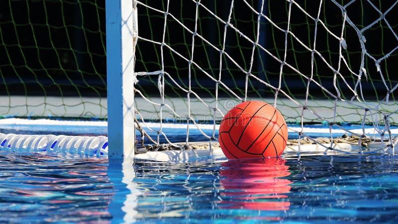 Tema do jogo do polo aquático, esporte fotografia de stock royalty free