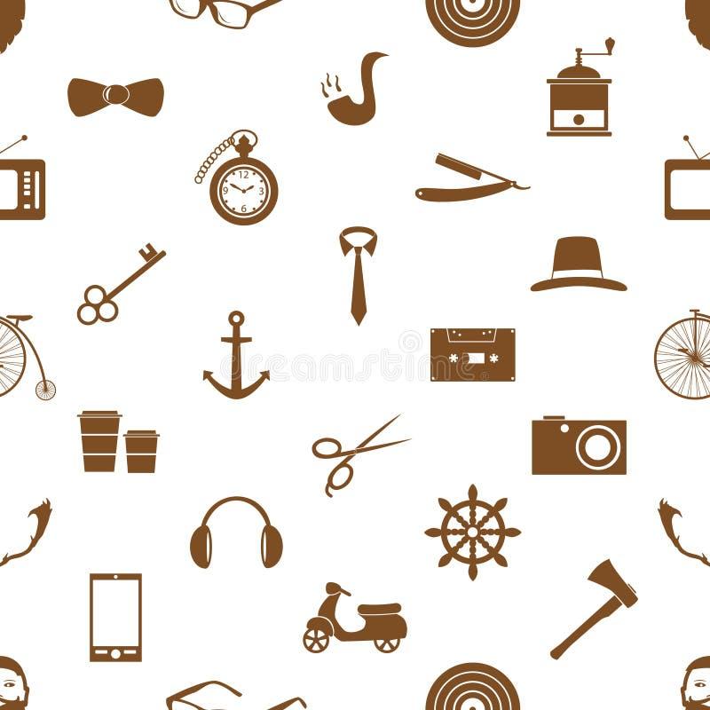 Tema do moderno e grupo da cultura de ícones do vetor no teste padrão sem emenda eps10 ilustração do vetor