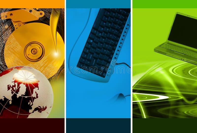 Tema do montagem do computador ilustração stock
