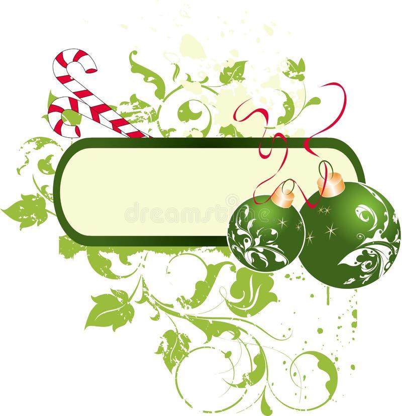Tema do Natal. ilustração stock