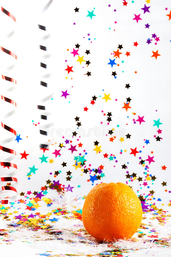 Tema do Natal com laranja fotos de stock