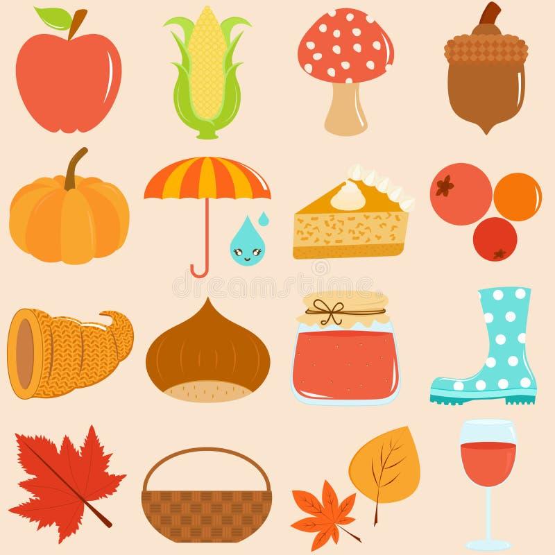 Tema do outono/queda ilustração royalty free