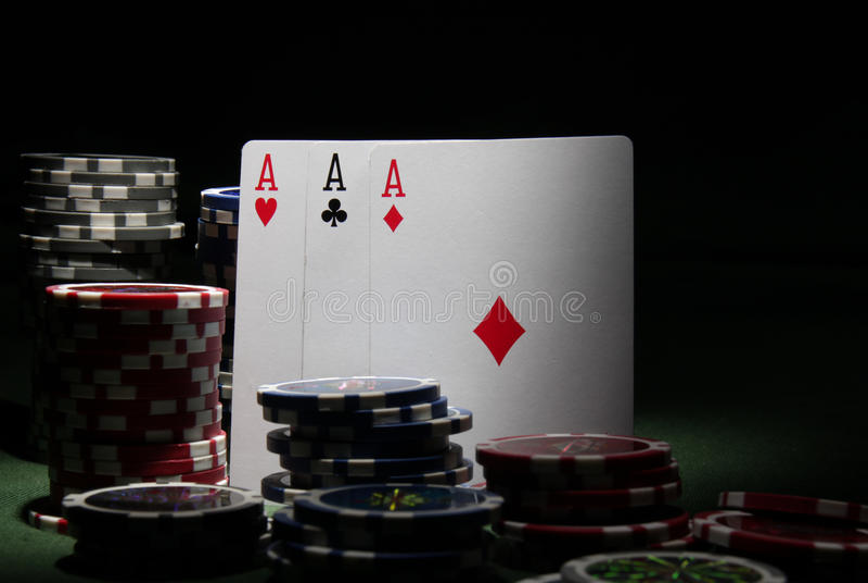 Tema do póquer imagem de stock royalty free