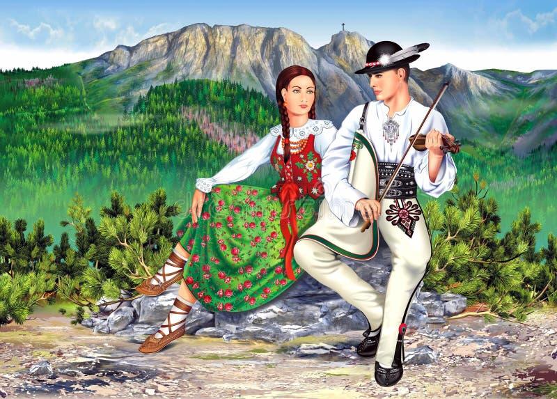 Tema do Polônia de Zakopane imagem de stock