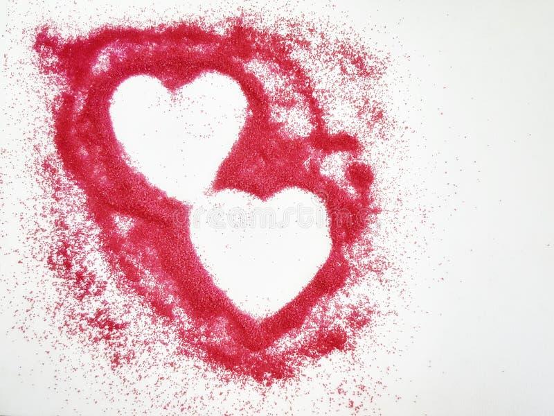 Tema do Valentim fotografia de stock