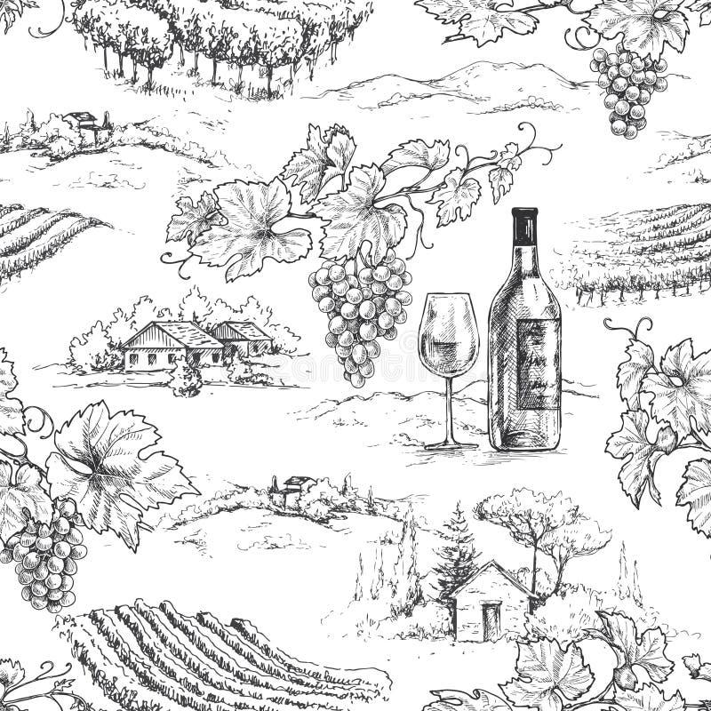Tema do Winemaking ilustração stock