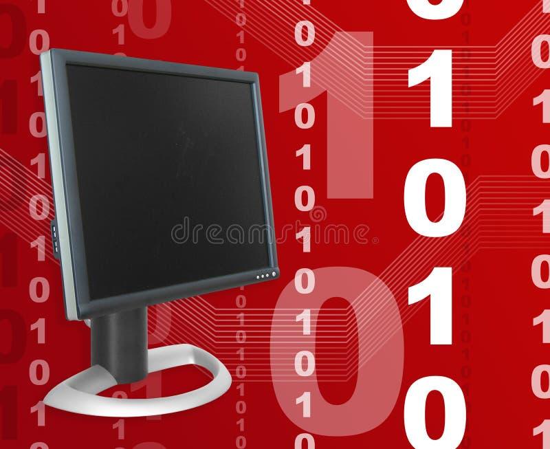 Tema dos dados do Internet ilustração do vetor