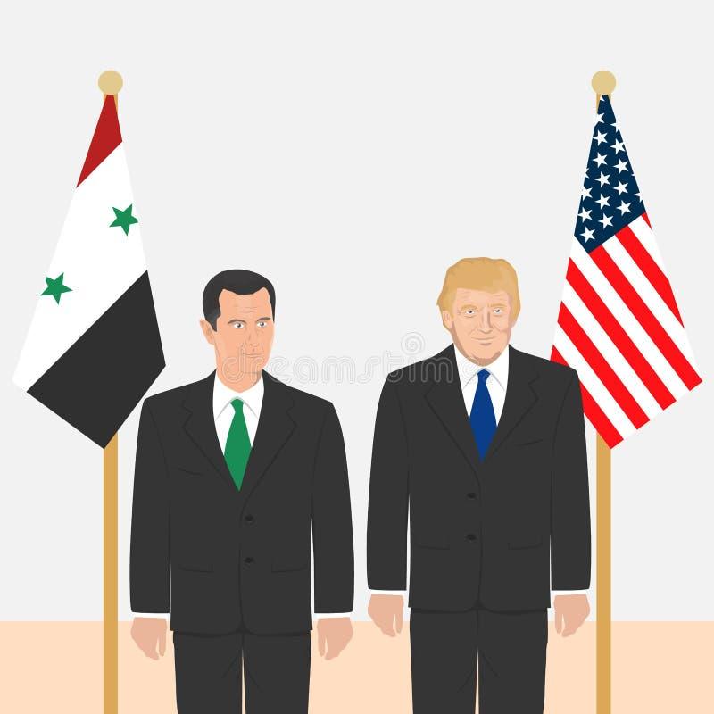 Tema dos líderes políticos ilustração royalty free