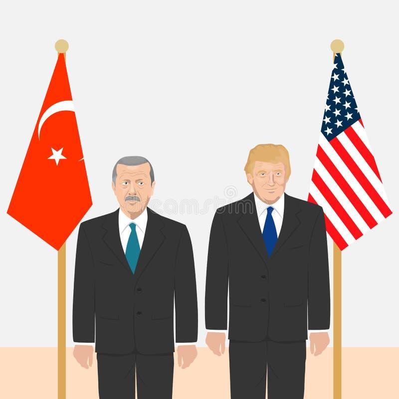 Tema dos líderes políticos ilustração stock