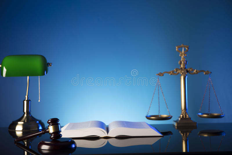 Tema e conceito da lei foto de stock