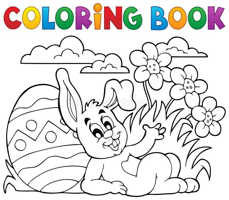 Tema 2 för kanin för påsk för färgläggningbok