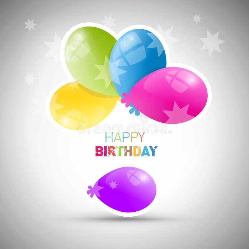 Tema för lycklig födelsedag vektor illustrationer