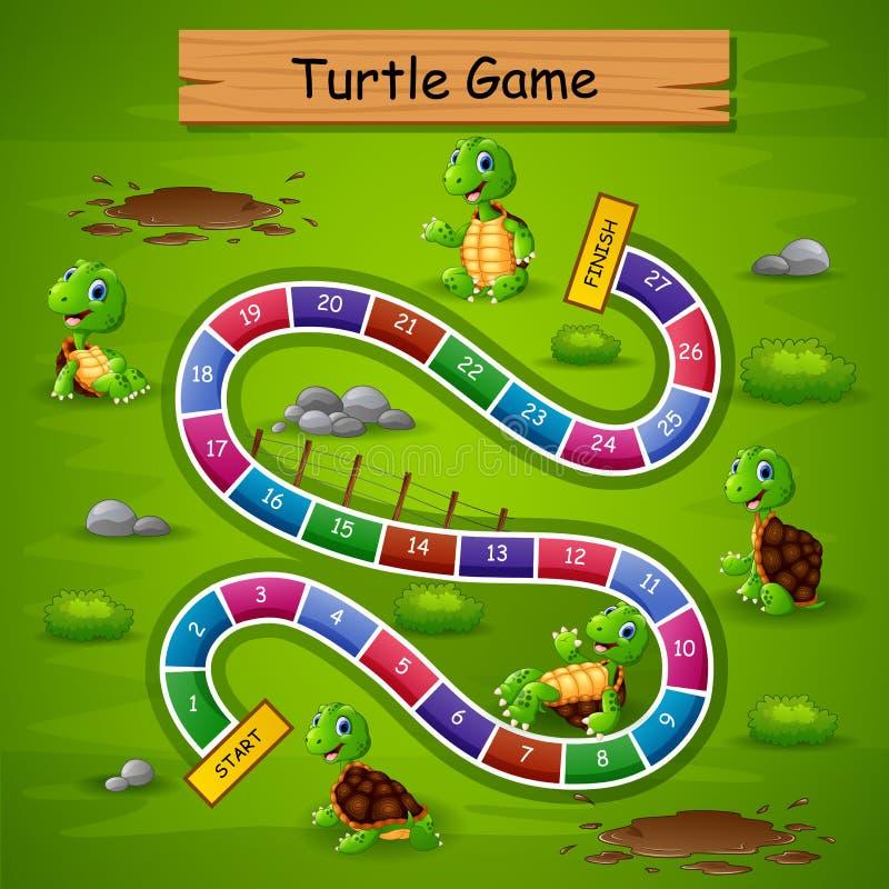 Tema för sköldpadda för ormstegar modigt royaltyfri illustrationer