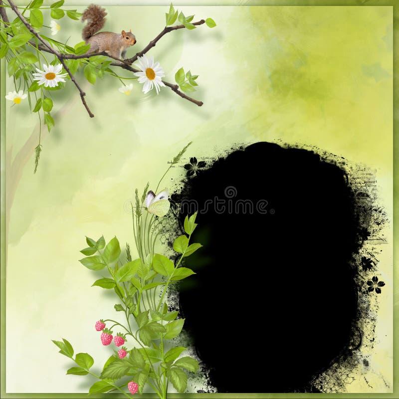 tema för skogramsommar stock illustrationer